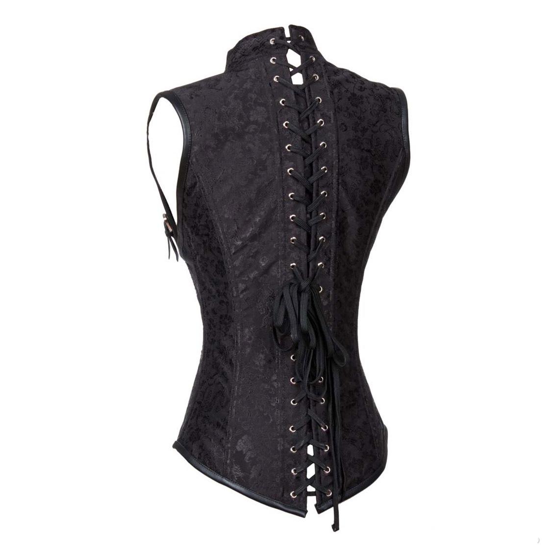 rebelsmarket_gothic_buckle_up_armor_underbust_waist_spiral_steel_boned_jacquard_corset_bustiers_and_corsets_4.jpg
