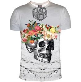 Flowers Skull T Shirt