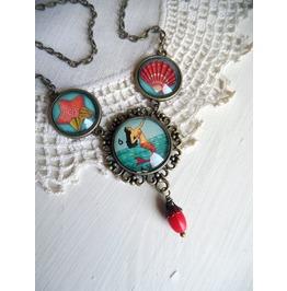 La Sirena Loteria Mermaid Choker Necklace