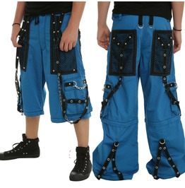 Men Bondage Pant Punk Rave Cyber Chain Techno Jeans Trouser Short Tripp Go