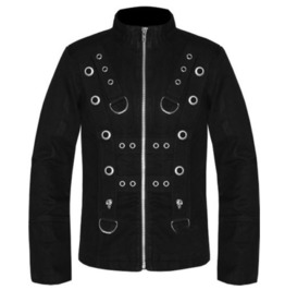 Men Gothic Bondage Jacket Tripp Punk Psycho Band Heavy Metal Bondo Jacket C