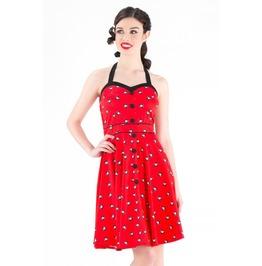Voodoo Vixen Margot Halterneck Eight Ball Dress