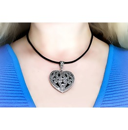 Submissive Day Collar Bdsm Leather Heart Pendant Anniversary Birthday Gift