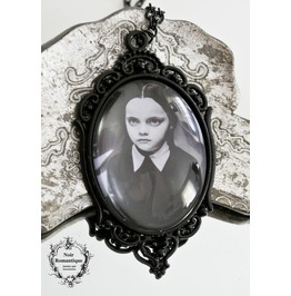 Wednesday Addams Necklace 30x40mm