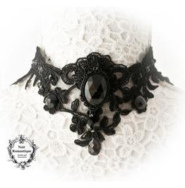 Divina Obscura Elegant Lace Gothic Choker