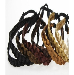 Hippie Bohemian Thick Synthetic Braided Hair Braid Plait Elastic Headbands
