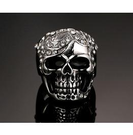 Stainless Steel Biker Skull Ring
