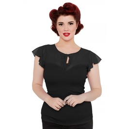 Voodoo Vixen Alyssa Black Sweetheart Top