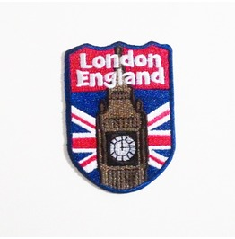 Vintage London Big Ben Embroidered Iron On Patch.