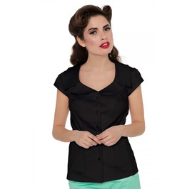 Voodoo Vixen Julie Black Collar Shirt