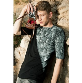 Mens Artistic Hand Painted T Shirt From Organic Cotton