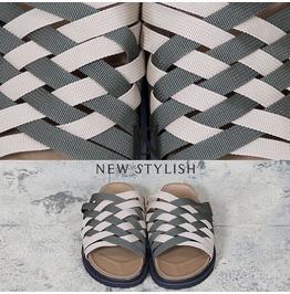 Woven Design Textile Strap Sandal Shoes 365
