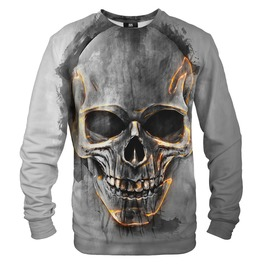 Fire Skull Cotton Sweater