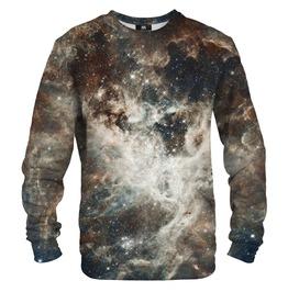 Golden Blue Galaxy Cotton Sweater
