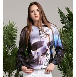 Skull & Roses Cotton Sweater