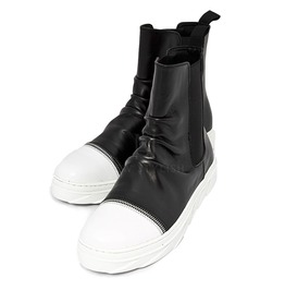 Wrinkled Leather High Top Sneaker Boots 366