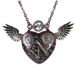 V11421 Steampunk Wings Necklace