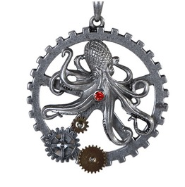V11423 Steampunk Octopus Necklace