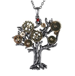 V11424 Tree Of Life Gearwork Necklace