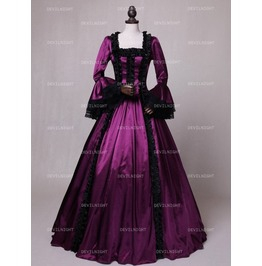 Purple Renaissance Marie Antoinett Theatrical Victorian Costume Dress