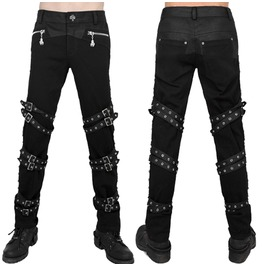 Men Gothic Pant Punk Cotton Rockabilly Black Hose Fashion Pant Gothic Trous