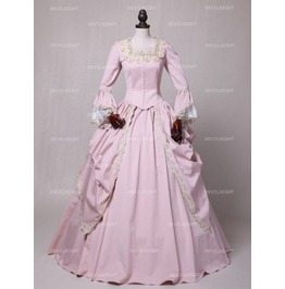 Pink Marie Antoinette Masked Ball Victorian Costume Dress N 00240
