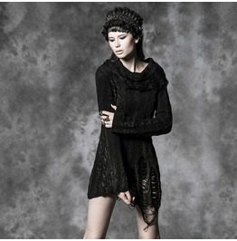 Punk Rave Women's Sexy Distressed Thread Angora Sweaters M026 F