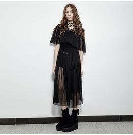 Punk Rave Women's Transparent Double Mesh Sexy Dress Pq159
