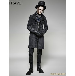 Gothic Decadent Noble Long Coat For Men Y 705