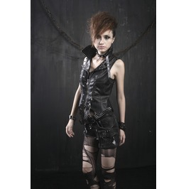 Punk Rave Women's Skull Studded Faux Leather Vest Y365 F