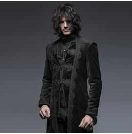 Punk Rave Men's Vintage Targaryen Long Coat Y651