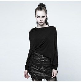 Punk Rave Women's Irregular Design Knitted Standard Tops O Pt136