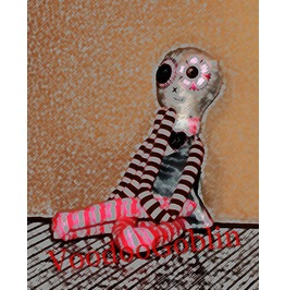 Voodoo Doll Raggedy Ashley Mixed Media