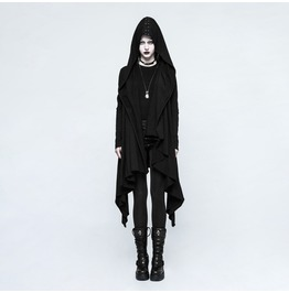 Punk Rave Women's Gothic Crisscross Knitted Hooded Jacket Y751