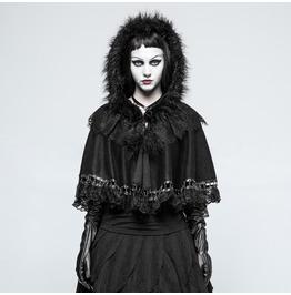 Punk Rave Women's Lolita Lace Trim Little Cloak Lm002