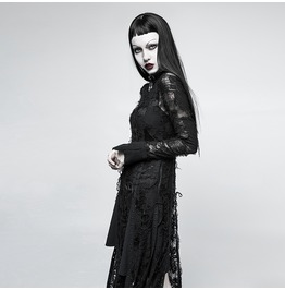 Punk Rave Women's Gothic Rero Distressed Lace Rope Dress Opq200