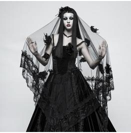 Punk Rave Women's Gothic Gorgeous Lace Floral Veil/Scarf S224