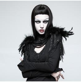 Punk Rave Women's Gothic Feather Leather Shoulder Knots S220