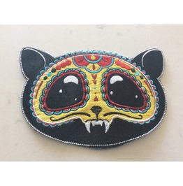 Embroidered Vampire Cat Iron/Sew On Patch