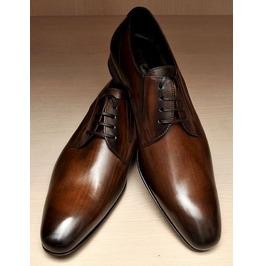 Handmade Men Brown Derby Shoes, Men Brown Leather Shoes, Men Formal Shoes