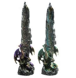 Decorative Dragon Incense Holder Waterfall Detail