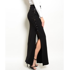 Lace Up Maxi Skirt