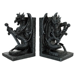 V11135 Dragon Bookends