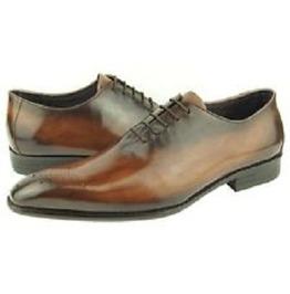 Handmade Men Brown Brogue Oxford Formal Dress Shoes, Men Leather Shoes