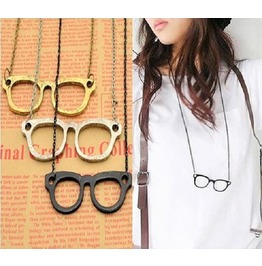 Fashion Vintage Retro Antique Eyeglasses Long Chain Style Pendant Necklaces