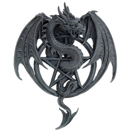 V11502 Pentagram Dragon Plaque