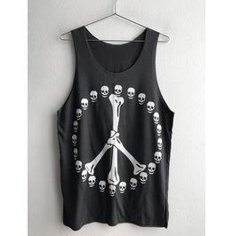 Skeleton Skull Fashion Punk Pop Rock Unisex Tank Top Vest M