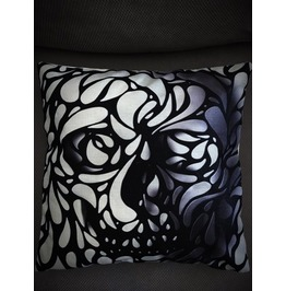 Lost In Art Skull Pillow Cover