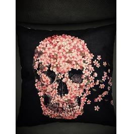 Flower Skull Pillow Cover