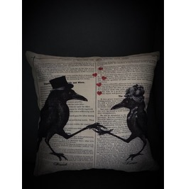 Ravens Dance Pillow Cover